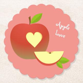 Apple Love Paper Coaster