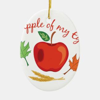 Apple Of Eye Ceramic Oval Ornament