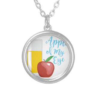 Apple Of Eye Silver Plated Necklace