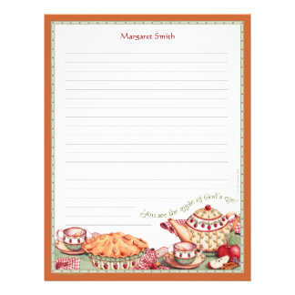 Apple of God's Eye Customizable Recipe Stationery