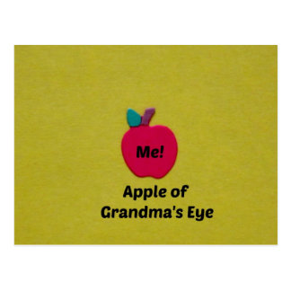 Apple of Grandma's Eye Postcard