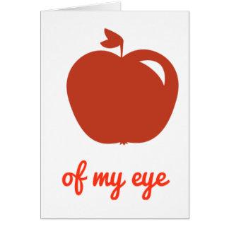 Apple of my eye merchandise card