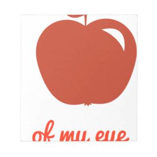 Apple of my eye merchandise notepad
