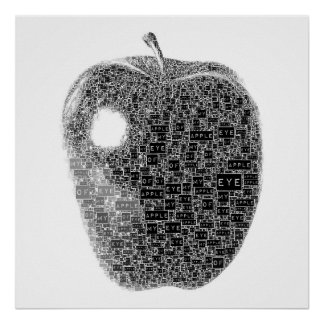 Apple of My Eye Text Poster