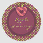 Apple of Our Eye Birthday Party Stickers