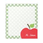 Apple on Laurel Green Polka Dots Notepad