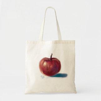 Apple on  tote