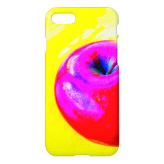 apple on yellow phone case