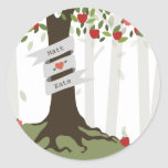 Apple Orchard Fall Autumn Wedding Round Sticker