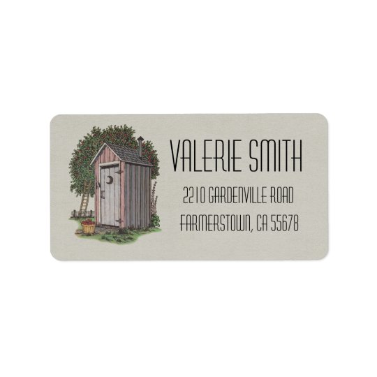 Apple Orchard Outhouse Label