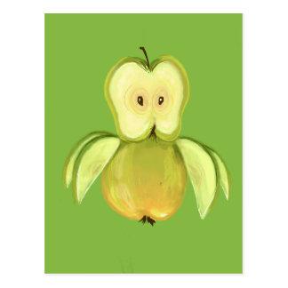 Apple owl postcard