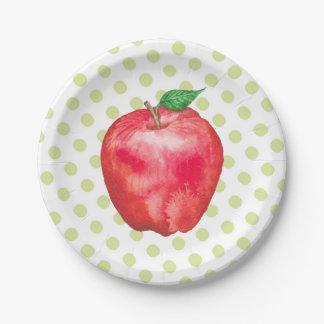 Apple Paper Plate