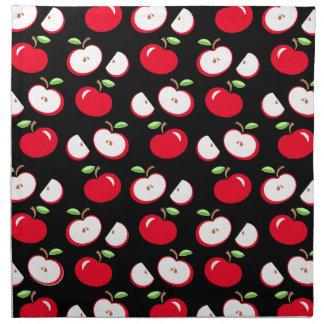 Apple pattern napkin