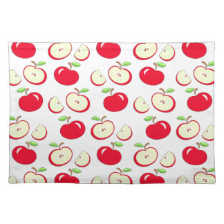 Apple pattern placemat