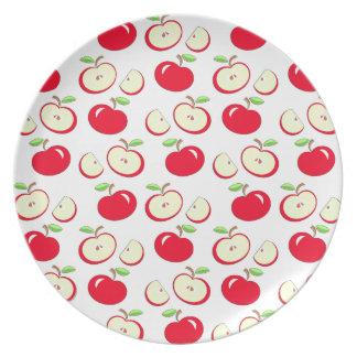 Apple pattern plate