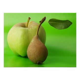 Apple & Pear Poster