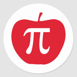 Apple Pi, Apple Pie Round Sticker