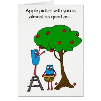Apple Pickin' with you: Autism Charity Card