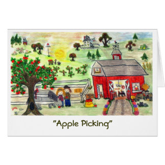 """""""Apple Picking"""" (A) Card"""
