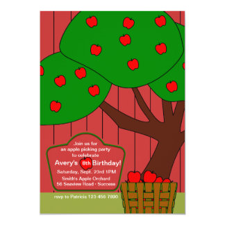 Apple Picking Fun Invitation