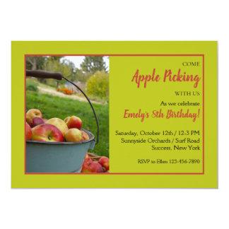 Apple Picking Time Invitation