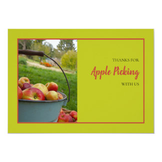 Apple Picking Time Thank You Card