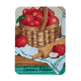 Apple Pie Apples & Basket - Coustomizable Magnet