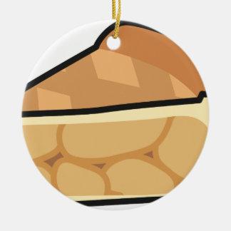 Apple Pie Ceramic Ornament