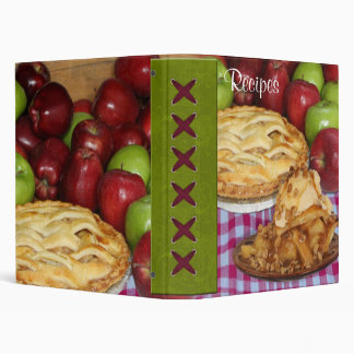 Apple Pie Cookbook Recipe Organizer Vinyl Binder
