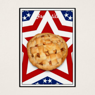 Apple Pie on Stars & Stripes Design Business Card