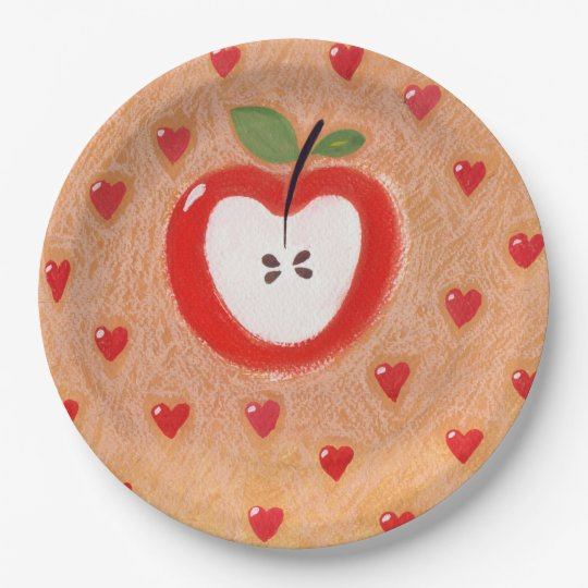Apple pie plate 9 inch paper plate
