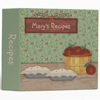 Apple Pie Recipe Binder