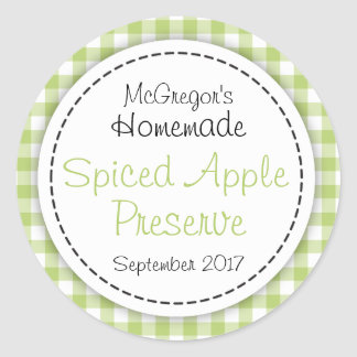 Apple preserve green round  jam jar food label