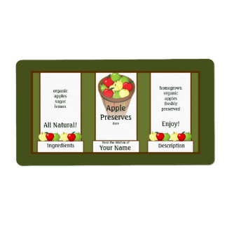 Apple Preserves Canning Label Shipping Label