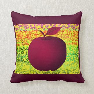 Apple Purple Artistic Vibrant Chic Stylish Modern Throw Pillow