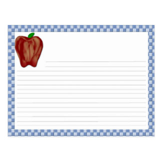 Apple Recipe Card Postcard