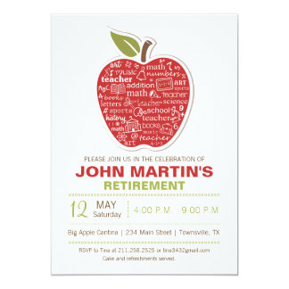 Apple Retirement Invitation