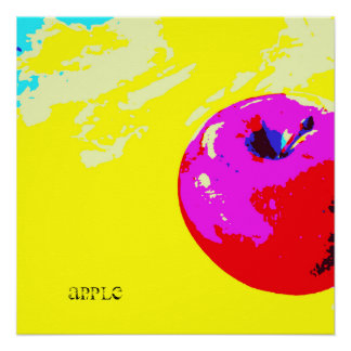 Apple Screenprint Poster Series Art