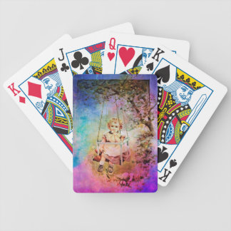 APPLE SLICE UNDER THE TREEE BICYCLE PLAYING CARDS