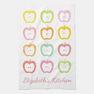 Apple Slices Personalized Summer Kitchen Towel