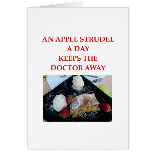 APPLE strudel Card