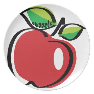 Apple Swoozle Melamine Plate