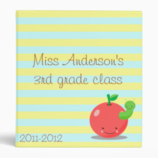 apple teacher binder