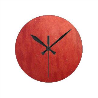 Apple Texture Round Clock