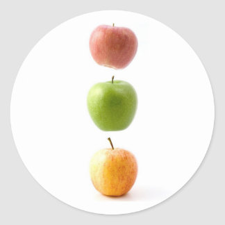 Apple Time Classic Round Sticker