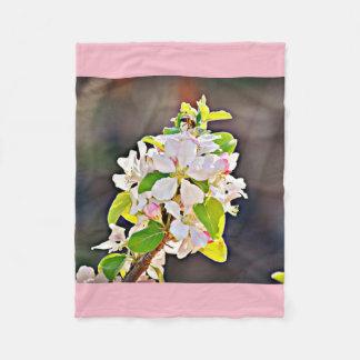 Apple Tree Blossoms Fleece Blanket