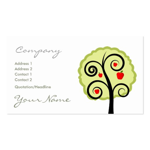 Apple Tree Business Card
