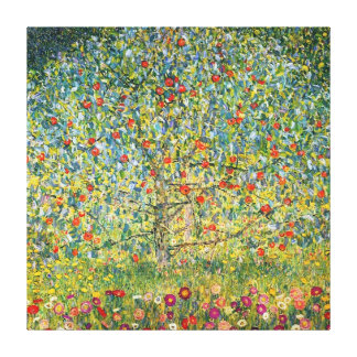 Apple Tree by Gustav klimt Canvas Print