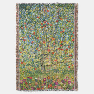 Apple Tree by Gustav Klimt Throw