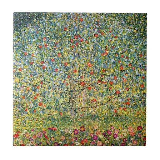 Apple Tree by Gustav Klimt Ceramic Tiles